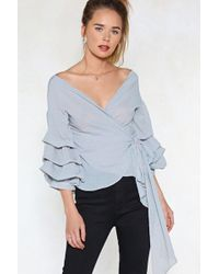 Nasty Gal - In Tiers Striped Top - Lyst