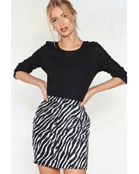 Nasty Gal - What's Crew With You Ribbed Top - Lyst