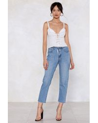 Nasty Gal - Put An End To It Mom Jeans - Lyst