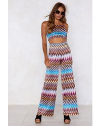 "Nasty Gal - ""heading In Our Direction Chevron Crop Top And Trousers Set"" - Lyst"