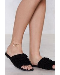 Nasty Gal - Hands Down Charm Anklet - Lyst