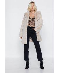 "Nasty Gal - ""at A Loss Fur Words Faux Fur Coat"" - Lyst"