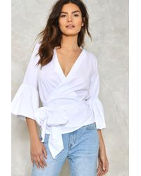 Nasty Gal | Present Tense Wrap Shirt Present Tense Wrap Shirt | Lyst