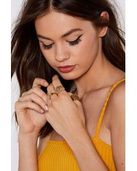 Nasty Gal - Hands Off 3-pc Ring Set - Lyst