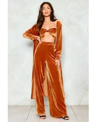 Nasty Gal - Magic Number Velvet Top Trousers And Jacket Set - Lyst