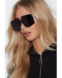 Nasty Gal - Shaping Up Nicely Oversized Shades - Lyst