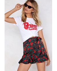 Nasty Gal - Rose With Me Wrap Skirt - Lyst