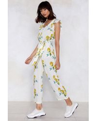 Nasty Gal - When Life Gives You Lemons Ruffle Jumpsuit - Lyst