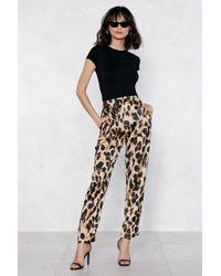 Nasty Gal - So Fierce Leopard Pants - Lyst