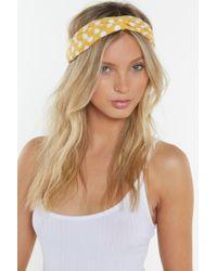 Nasty Gal - Polka Dot Woven Headband - Lyst