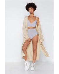 Nasty Gal - Birthday Suit Bralette And Panty Shorts Set - Lyst