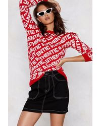 Nasty Gal - So Authentic Knit Jumper - Lyst