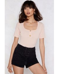 Nasty Gal - Such A Square Bodysuit - Lyst