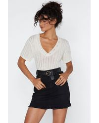 Nasty Gal - Be With You In A Mini Denim Skirt - Lyst