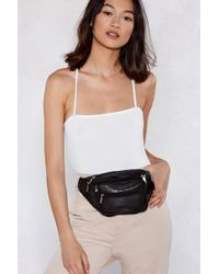 Nasty Gal - Want Compartmentalize Vegan Leather Fanny Pack - Lyst