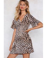 Nasty Gal - A Cheetah Never Changes Dress - Lyst