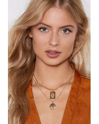 Nasty Gal - Layer Low Pendant Necklace - Lyst