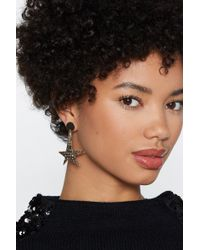 Nasty Gal - Let's Make A Star-t Hammered Earrings - Lyst