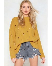 Nasty Gal - Prove Knit Distressed Jumper - Lyst