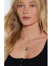 Nasty Gal - You're In Luck St. Christopher Necklace - Lyst