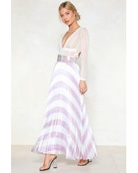 Nasty Gal - You're Chevron In A Million Maxi Skirt - Lyst