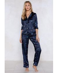 Nasty Gal - Supersonic Rocket Ship Pyjama Top And Trousers Set - Lyst