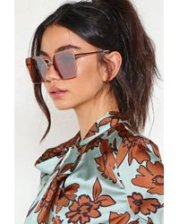 Nasty Gal - Square Play Oversized Shades - Lyst