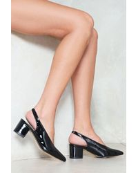 656c8e7b8ae Lyst - Women s Nasty Gal Low and mid heels On Sale