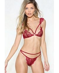Nasty Gal   Pillow Talk Cap Sleeve Bralette And Thong Set   Lyst
