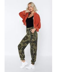 Nasty Gal - Don't Hide Away Camo Joggers - Lyst
