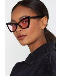 072b7e959ca1 Lyst - Nasty Gal Vintage Chanel Logo Cutout Sunglasses in Black