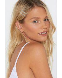 Nasty Gal - Top It Off Diamante Hair Slides - Lyst
