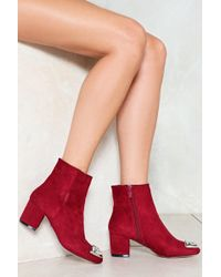 Nasty Gal - Toe And Behold Embellished Boot - Lyst