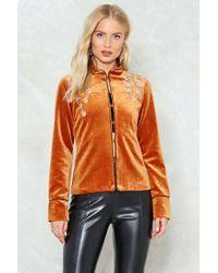 Nasty Gal - Velvet Embroidered Jacket Velvet Embroidered Jacket - Lyst