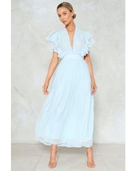 Nasty Gal - The Pleat Is On Maxi Dress - Lyst