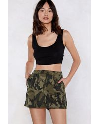 Nasty Gal - March On Camo Shorts - Lyst