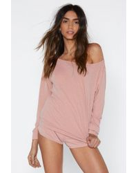 """Nasty Gal - """"cool Your Jets Ribbed Top And Shorts Lounge Set"""" - Lyst"""