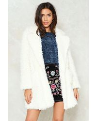 Nasty Gal - Chill Factor Fluffy Jacket Chill Factor Fluffy Jacket - Lyst