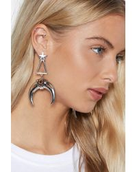 Nasty Gal - Look Sharp Horn Earrings - Lyst