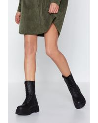 """Nasty Gal - """"high How's It Going Hiker Boot"""" - Lyst"""