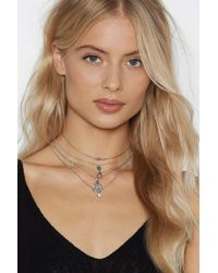 Nasty Gal - You Got Charm Layered Necklace - Lyst