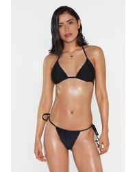 60140897d2 Nasty Gal N.L.P Wheeler Cutout Bikini Bottom - Black in Black - Lyst