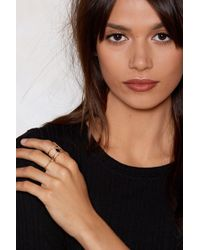 """Nasty Gal - """"line By Me Fine 4-pc Ring Set"""" - Lyst"""