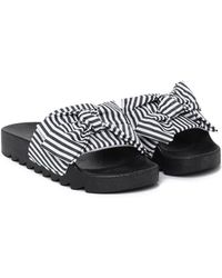Nasty Gal - Slide Into The Dm's Striped Slider - Lyst