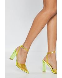 f37ecfebcbc Lyst - Nasty Gal Call Me On Your Shell Phone Holographic Heel in Pink
