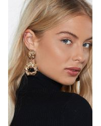 Nasty Gal - Shell It To Me Drop Earrings - Lyst
