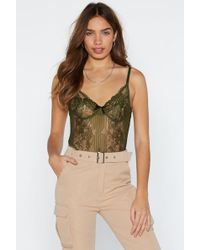 Nasty Gal - Lace Orders Cupped Bodysuit - Lyst