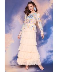Nasty Gal - Studio Marianne Embellished Dress - Lyst