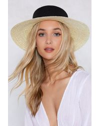 Nasty Gal - Watch Your Tone Straw Hat - Lyst