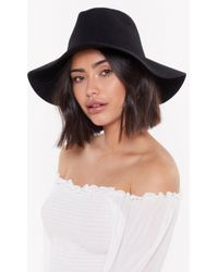 """Nasty Gal - """"hats Off To You Wool Fedora Hat"""" - Lyst"""
